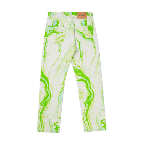 marble lilly jeans (white / green)