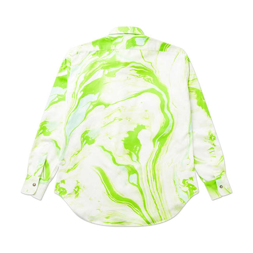 marble western shirt (green)