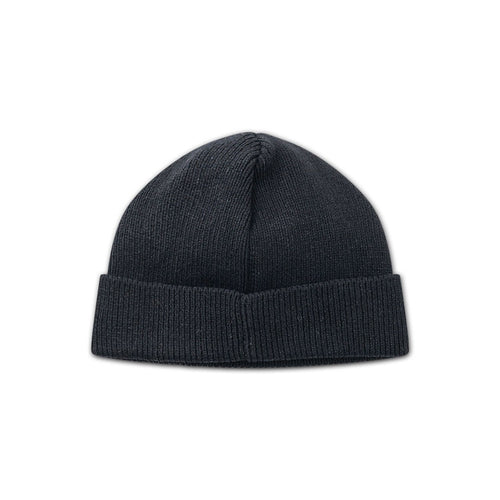 rubber patch beanie (black)