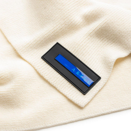 rubber patch scarf (white)