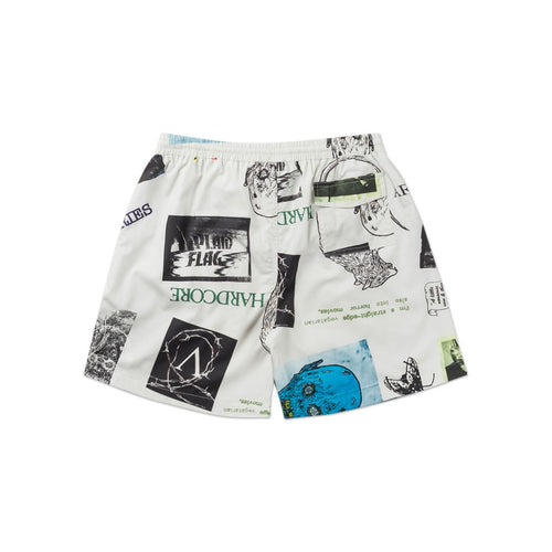 thrasher board shorts (white)