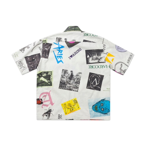 thrasher hawaiian shirt (white)