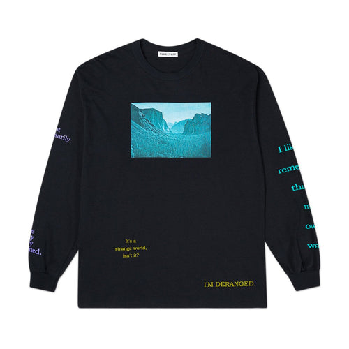 """deranged"" l/s t-shirt (black)"