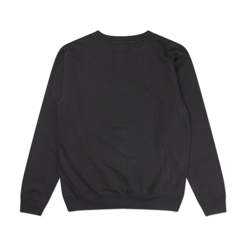 smoke eyes crewneck (black)
