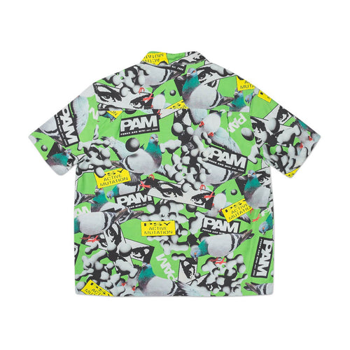 collage short sleeve shirt (green)