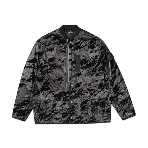 padded bomber jacket lucid flock (black)