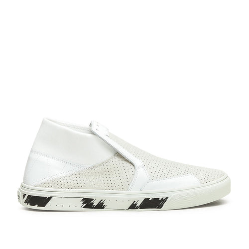 slip-on mid leather (white)