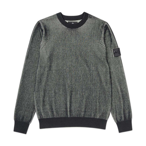 two colour crewneck (black)