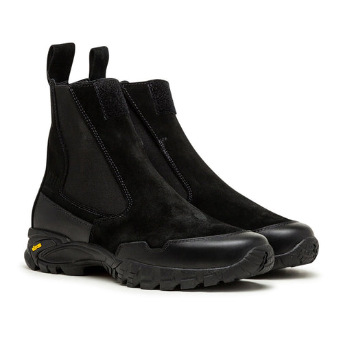 velcro fastened chelsea boot (black)