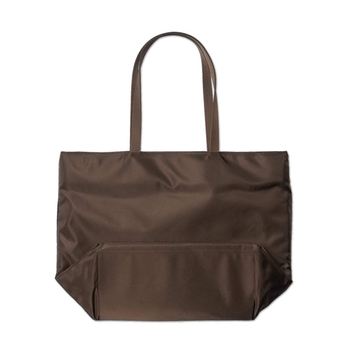 future is the past tote bag (dark brown)