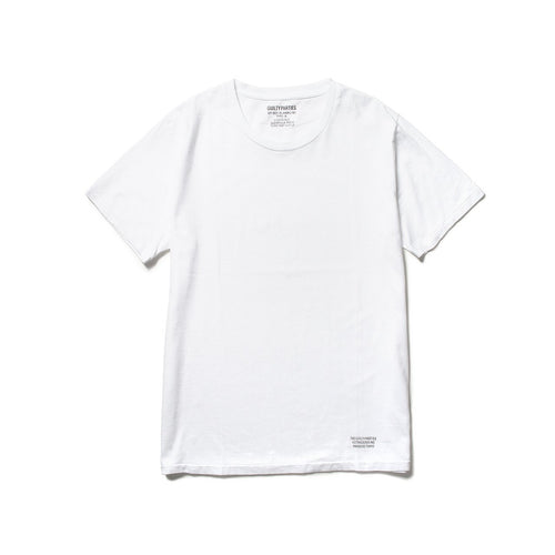 "heavy weight ""blankline"" crew neck t-shirt (type-a) 2-pack (white)"