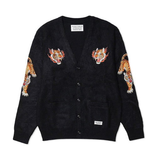 tim lehi / mohair cardigan (type-1) (black)