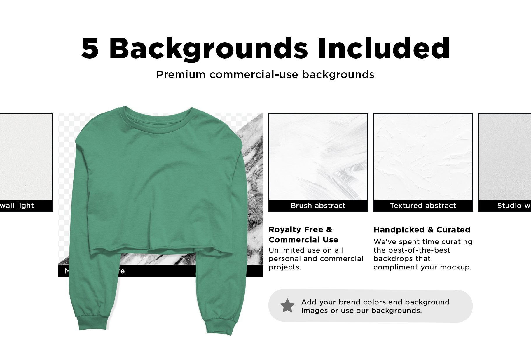 Cropped Long Sleeve Tee Mockup