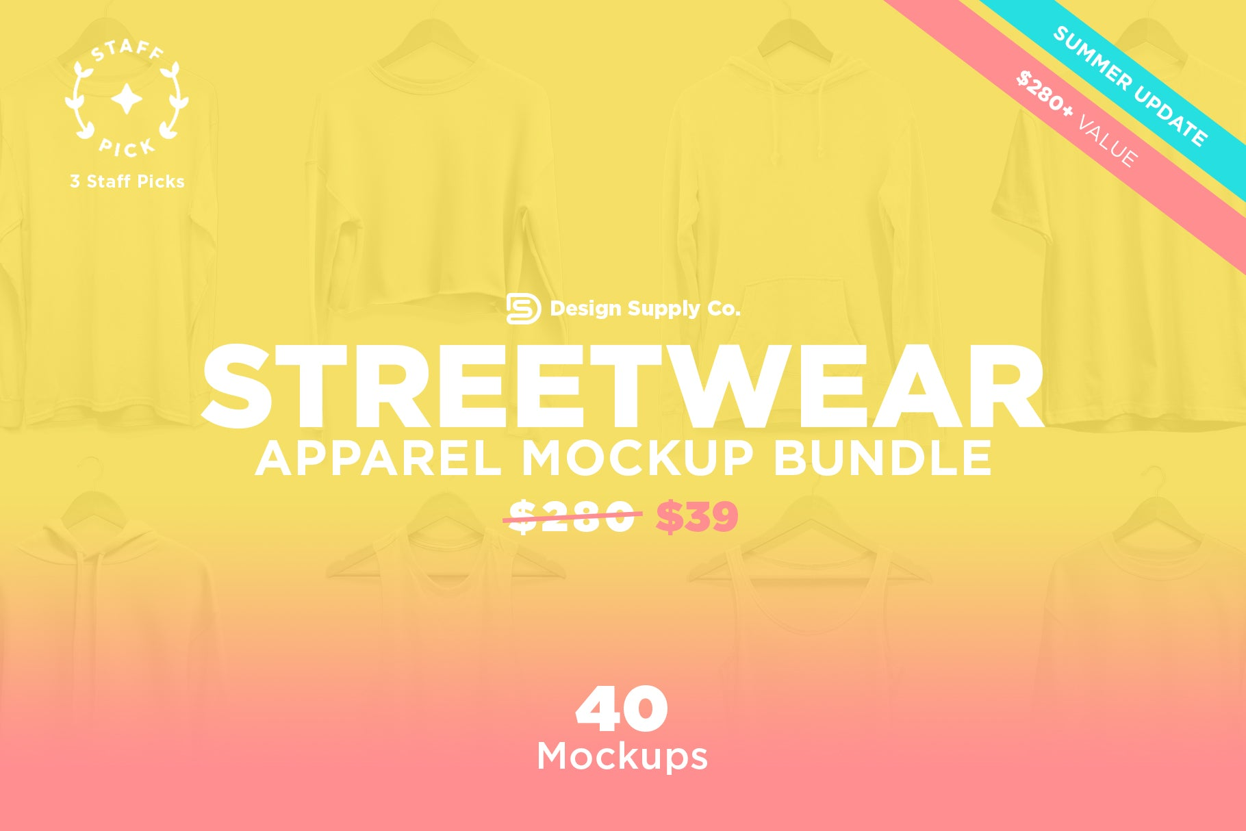 Streetwear Apparel Mockup Bundle