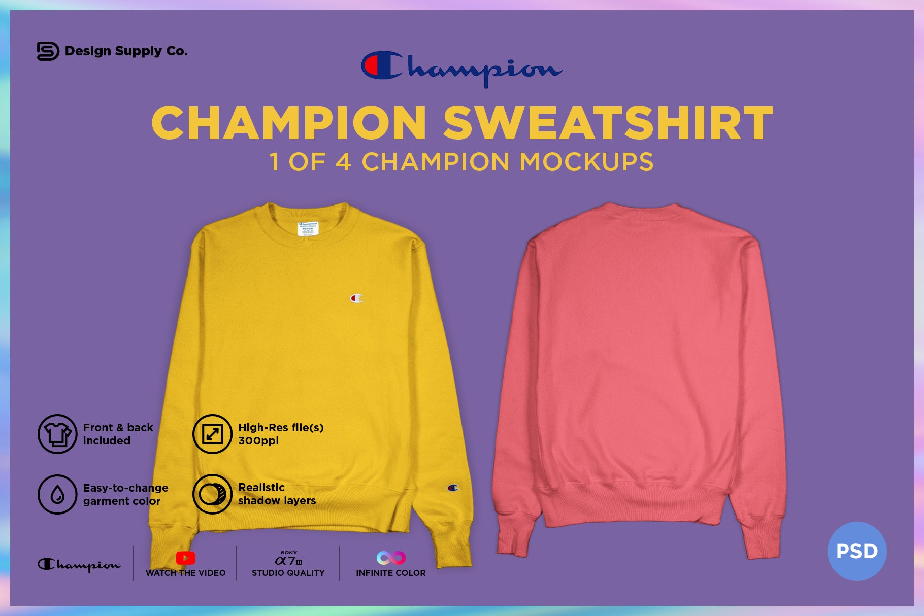 Champion Sweatshirt Mockup