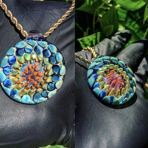 Color Fractal Pendant