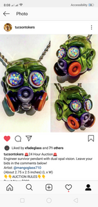 Engineer survivor pendant with dual opal vision