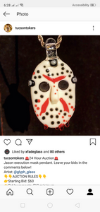 Jason execution mask pendant