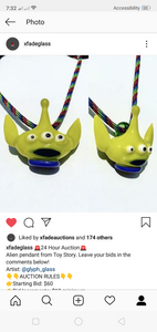 Alien pendant from toy story