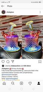 Fully fumed diamond faceted rig