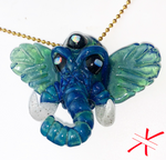 Fully Crushed Opal Third Eye Elephant