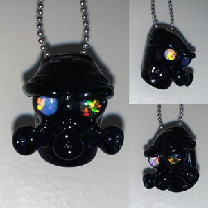 Nuclear Soldier pendant with Opal Eyes.