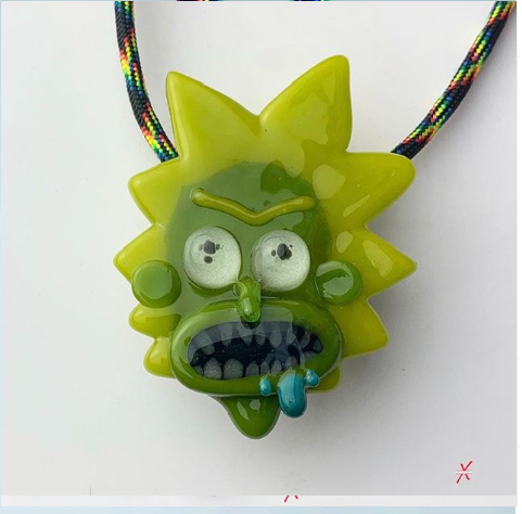 Toxic Rick pendant with Glow-In-The-Dark Eyes from Rick & Morty.