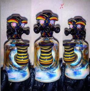 Nuclear Soldier Linework Fumed Out with Opal Eyes