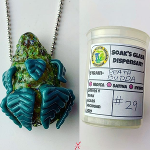 Death Budda #29 Topshelf (Glass) Nug pendant (Comes with Matching Medcase)