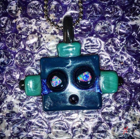 BOT pendant Color Stacked with Opal Eyes