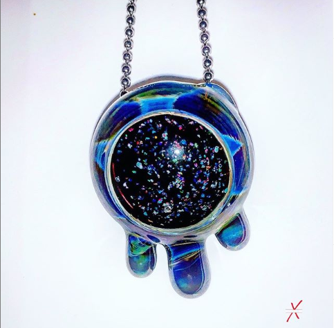 Crushed Opal Drippy pendant