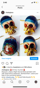 Starry Night Sacred Skull Pendy Art