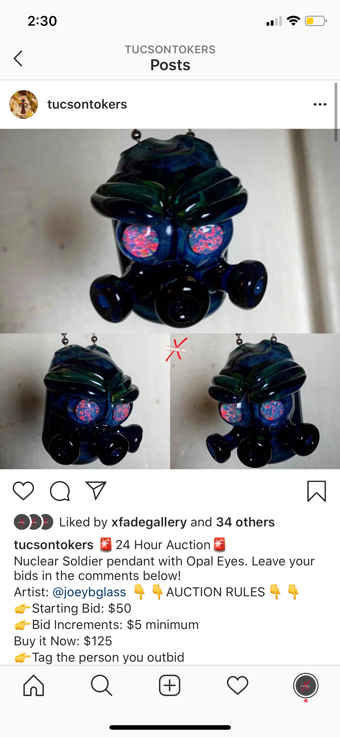 Nuclear Soldier Pendy Art
