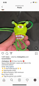 Space Alien Pendy Art