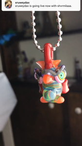 Owl lineworked pendy art