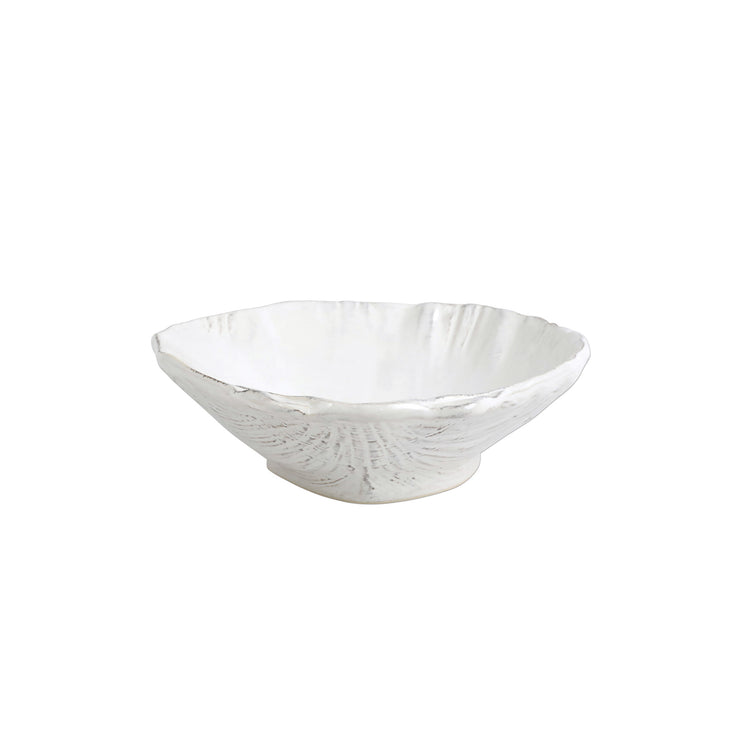 Acquatico White Medium Clam Shell