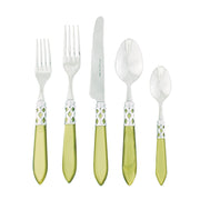 Aladdin Chartreuse Brilliant Five-piece Place Setting by VIETRI