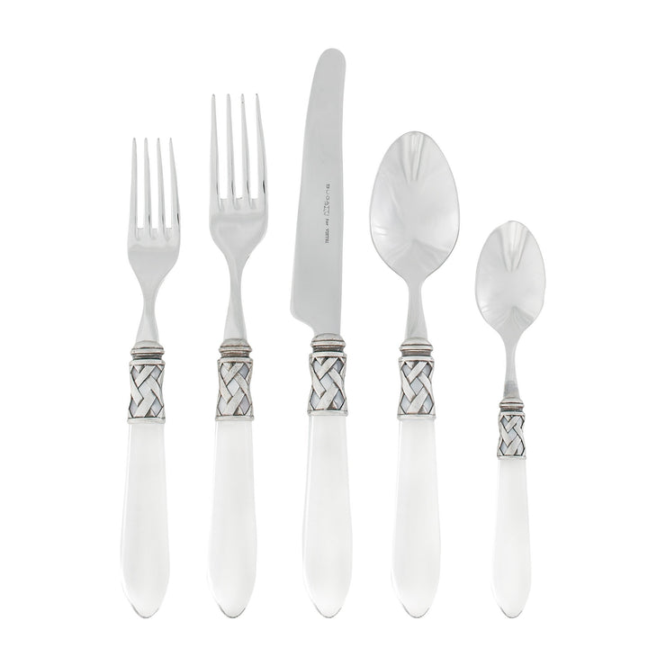 Aladdin Antique Clear Five-piece Place Setting by VIETRI