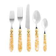 Aladdin Gold Fleck Five-piece Place Setting by VIETRI
