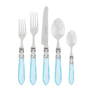 Aladdin Light Blue Antique Five-piece Place Setting by VIETRI