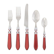 Aladdin Red Brilliant Five-piece Place Setting by VIETRI