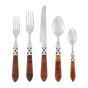 Aladdin Brilliant Tortoiseshell Five-piece Place Setting by VIETRI