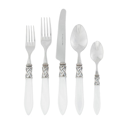 Aladdin Antique White Five-piece Place Setting by VIETRI