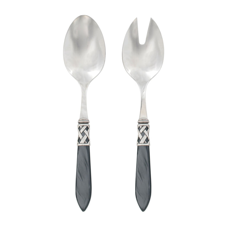 Aladdin Antique Charcoal Salad Server Set by VIETRI