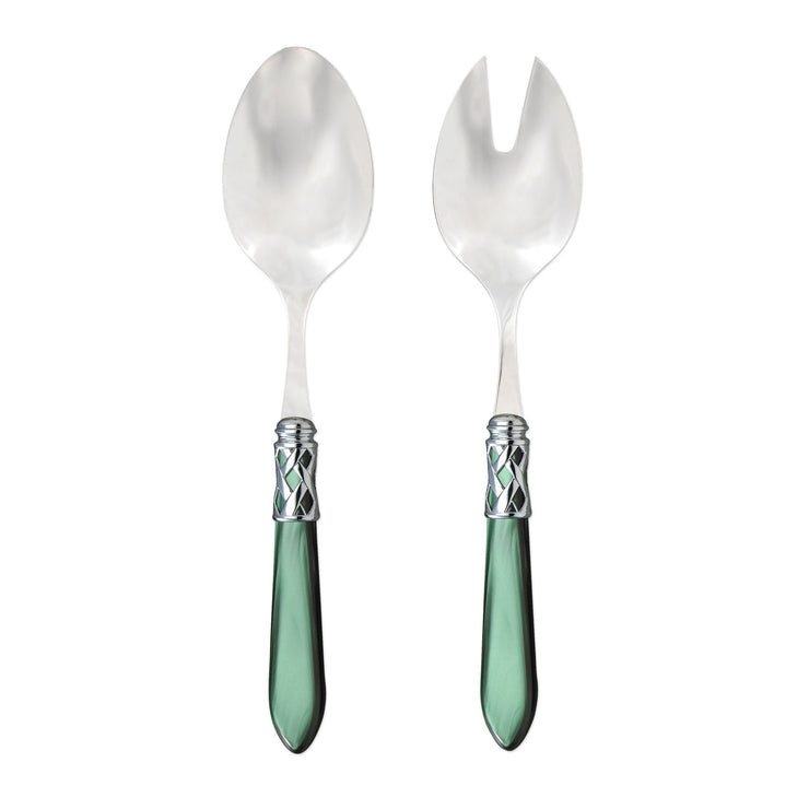 Aladdin Brilliant Green Salad Server Set by VIETRI