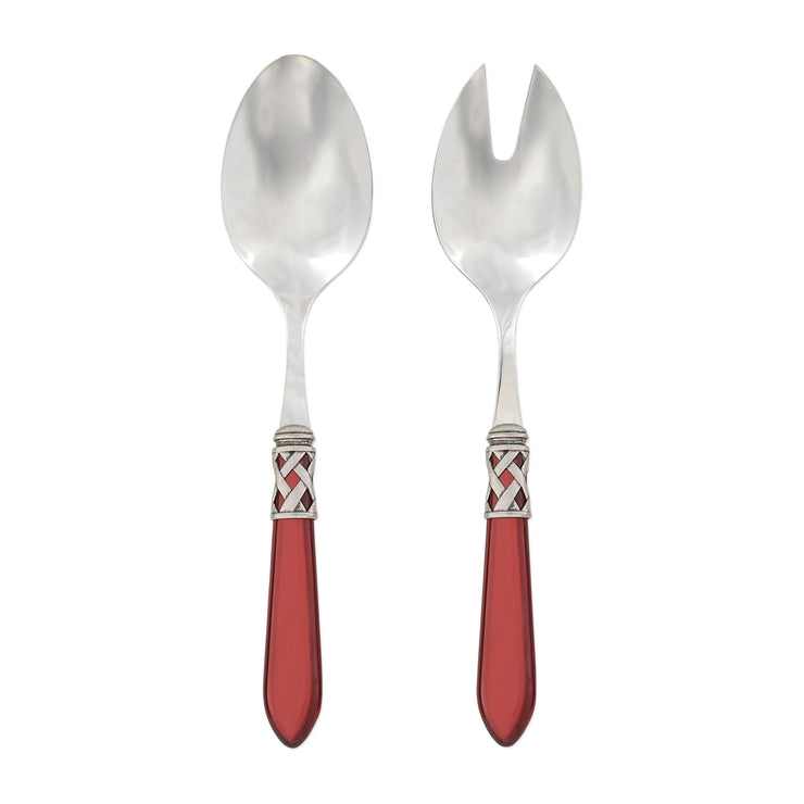 Aladdin Antique Red Salad Server Set by VIETRI