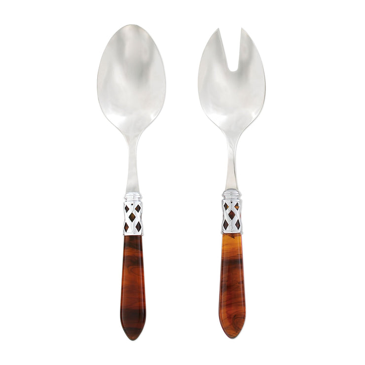 Aladdin Brilliant Tortoiseshell Salad Server Set by VIETRI