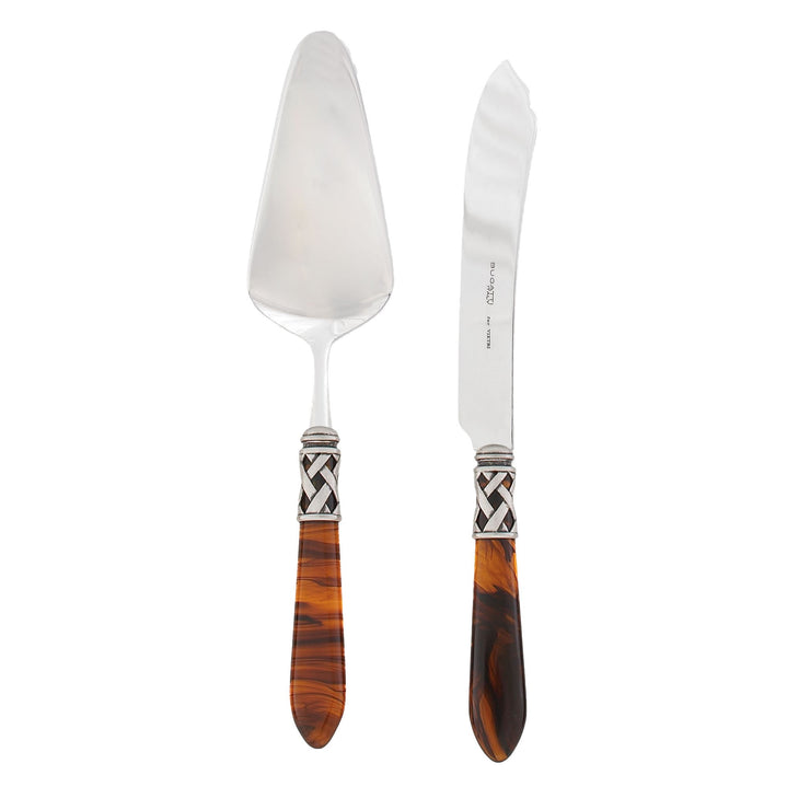 Aladdin Antique Tortoiseshell Dessert Set by VIETRI