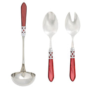 Aladdin Brilliant Red Soup & Salad Set by VIETRI