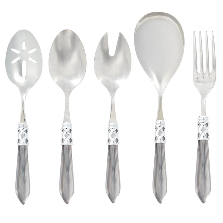 Aladdin Brilliant Light Gray Classic Serving Set by VIETRI